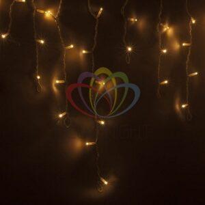 255-138 Гирлянда Айсикл (бахрома) светодиодный, 4, 8 х 0, 6 м, белый провод, 230 В, диоды тепло-белые, 176 LED