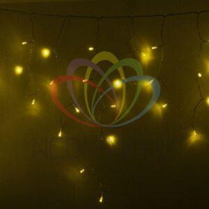 255-141 Гирлянда Айсикл (бахрома) светодиодный, 4, 8 х 0, 6 м, прозрачный провод, 230 В, диоды желтые, 176 LED