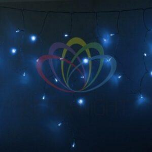 255-143 Гирлянда Айсикл (бахрома) светодиодный, 4, 8 х 0, 6 м, прозрачный провод, 230 В, диоды синие, 176 LED