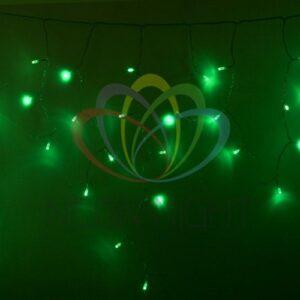 255-144 Гирлянда Айсикл (бахрома) светодиодный, 4, 8 х 0, 6 м, прозрачный провод, 230 В, диоды зеленые, 176 LED