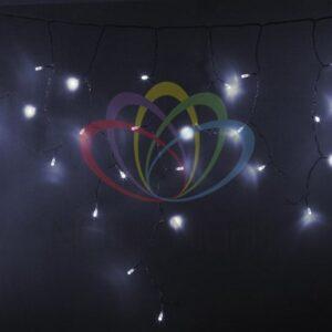 255-145 Гирлянда Айсикл (бахрома) светодиодный, 4, 8 х 0, 6 м, прозрачный провод, 230 В, диоды белые, 176 LED