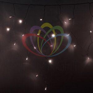 255-146 Гирлянда Айсикл (бахрома) светодиодный, 4, 8 х 0, 6 м, прозрачный провод, диоды ТЕПЛО-БЕЛЫЕ, 176 LED