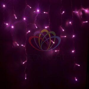 255-148 Гирлянда Айсикл (бахрома) светодиодный, 4, 8 х 0, 6 м, прозрачный провод, 230 В, диоды розовые, 176 LED