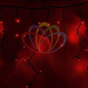"""255-222 Гирлянда Айсикл (бахрома) светодиодный, 4, 0 х 0, 6 м, черный провод """"КАУЧУК"""", 230 В, диоды красные, 128 LED"""