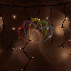 """255-226 Гирлянда Айсикл (бахрома) светодиодный, 4, 0 х 0, 6 м, черный провод """"КАУЧУК"""", 230 В, диоды тепло-белые, 128 LED"""