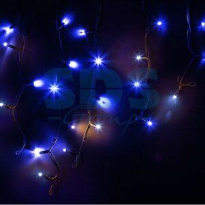 """255-233 Гирлянда Айсикл (бахрома) светодиодный, 4,0 х 0,6 м, с эффектом мерцания, черный провод """"КАУЧУК"""", 230 В, диоды синие"""
