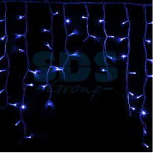 """255-283 Гирлянда Айсикл (бахрома) светодиодный, 5,6 х 0,9 м, белый провод """"КАУЧУК"""", 230 В, диоды синие, 240 LED"""