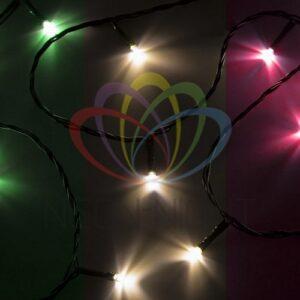 "303-019 Гирлянда ""Твинкл Лайт"" 4 м, темно-зеленый ПВХ, 25 LED, цвет мультиколор"