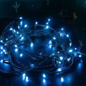 """303-013 Гирлянда """"Твинкл Лайт"""" 4 м, темно-зеленый ПВХ, 25 LED, цвет: Синий"""