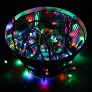 "303-049 Гирлянда ""Твинкл Лайт"" 10 м, темно-зеленый ПВХ, 80 LED, цвет мультиколор"