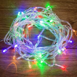 "303-179 Гирлянда ""Твинкл Лайт"" 6 м, прозрачный ПВХ, 40 LED, цвет Мультиколор"