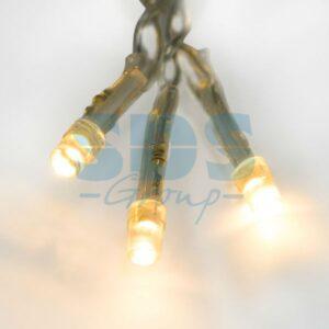 """303-186 Гирлянда """"Твинкл Лайт"""" 10 м, прозрачный ПВХ, 80 LED, цвет ТЕПЛЫЙ БЕЛЫЙ"""