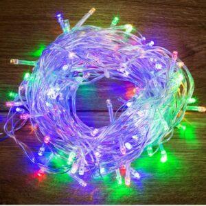 "303-169 Гирлянда ""Твинкл Лайт"" 4 м, прозрачный ПВХ, 25 LED, цвет Мультиколор"