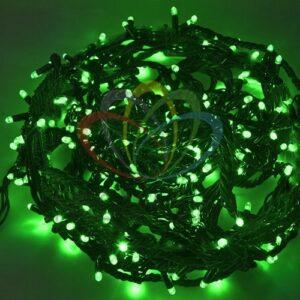 """303-324 Гирлянда """"Твинкл Лайт"""" 20 м, черный КАУЧУК, 240 диодов, цвет зеленый"""