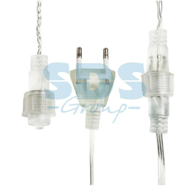 """303-606 Гирлянда """"Мишура LED"""" 3 м прозрачный ПВХ, 288 диодов, цвет теплый белый"""