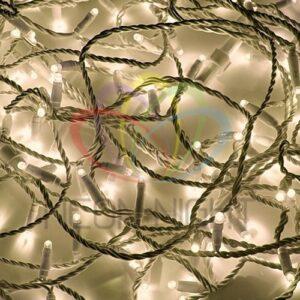 """315-126 Гирлянда модульная """"Дюраплей LED"""" 20м 200 LED белый ПВХ, Тепло-белая 24В"""