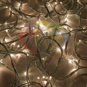 """315-146 Гирлянда модульная """"Дюраплей LED"""" 20м 200 LED белый каучук Тепло-белая"""