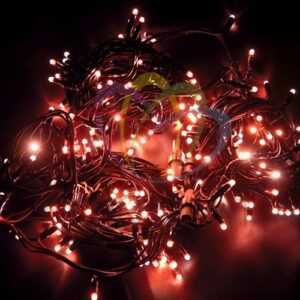 """315-152 Гирлянда модульная """"Дюраплей LED"""" 20м 200 LED черный каучук Красная"""