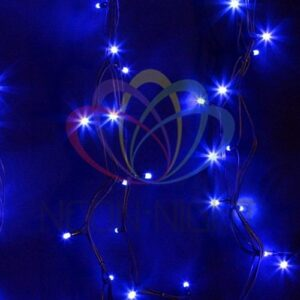 """315-153 Гирлянда модульная """"Дюраплей LED"""" 20м 200 LED черный каучук Синий"""