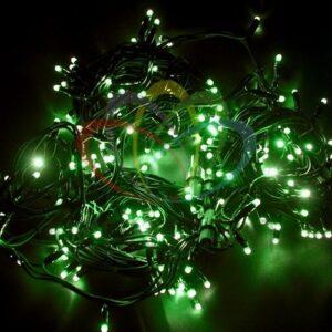 """315-154 Гирлянда модульная """"Дюраплей LED"""" 20м 200 LED черный каучук Зеленая"""