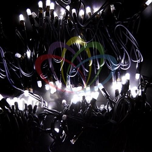 """315-165 Гирлянда модульная """"Дюраплей LED"""" 100% Flashing, 20м, черный каучук, 200 диодов, Белая"""