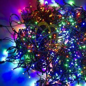 """323-309 Гирлянда """"LED ClipLight"""" 24V, 3 нити по 20 м, свечение с динамикой, цвет диодов Мульти"""