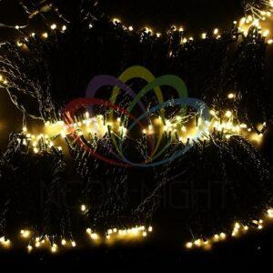"""323-506 Гирлянда """"LED ClipLight"""" 24V, 5 нитей по 20 метров, цвет диодов Теплый Белый"""