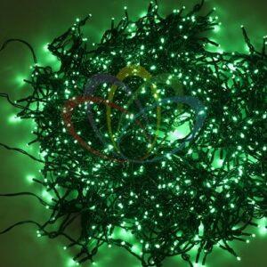 """323-604 Гирлянда """"LED ClipLight"""" 24V, 5 нитей по 20 метров, цвет диодов Зеленый, Flashing (Белый)"""