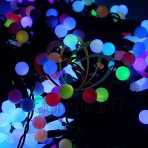 """323-619 Гирлянда """"LED ClipLight – МУЛЬТИШАРИКИ"""" 24V, 3 нити по 20 м, свечение с динамикой, цвет диодов RGB"""