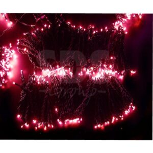 """323-507 Гирлянда """"LED ClipLight"""" 24V, 5 нитей по 20 метров, цвет диодов Розовый"""