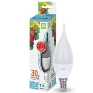 Лампа светодиодная LED-СВЕЧА НА ВЕТРУ-standard 3.5Вт 220В Е14 320Лм