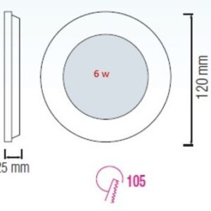 Светодиодная ультратонкая панель 6Вт SLIM-06 Horoz