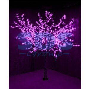 """531-126 Светодиодное Дерево """"Сакура"""", высота 2, 4м, диаметр кроны 2, 0м, фиолетовые диоды, IP 64, понижающий трансформатор в комплекте"""