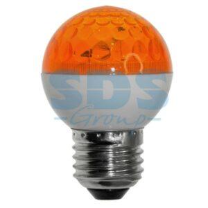 411-121 Лампа строб e27 Ø50мм оранжевая