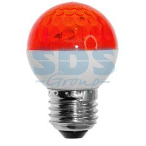 411-122 Лампа строб e27 Ø50мм красная