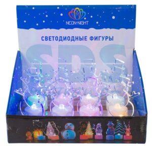 """501-043 Фигура светодиодная на подставке """"Снеговик в шляпе 2D"""", RGB"""