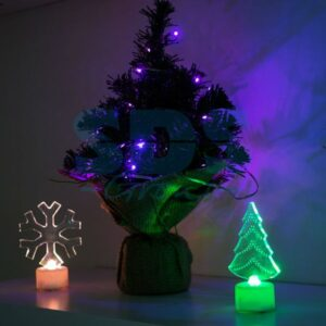 "501-045 Фигура светодиодная на подставке ""Елочка 2D"", RGB"