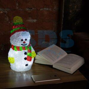 """513-275 Акриловая светодиодная фигура """"Снеговик с шарфом"""" 30 см, 40 светодиодов, IP 44, понижающий трансформатор в комплекте, NEON-NIGHT"""