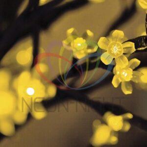 """531-121 Светодиодное дерево """"Сакура"""", высота 2,4м, диаметр кроны 2,0м, желтые светодиоды, IP 54, понижающий трансформатор в комплекте, NEON-NIGHT"""