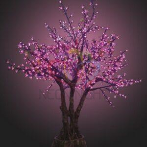 """531-131 Светодиодное дерево """"Сакура"""", высота 1.7 метра, фиолетовые светодиоды,  IP 54, понижающий трансформатор в комплекте, NEON-NIGHT"""