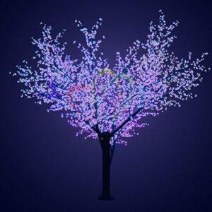"""531-213 Светодиодное дерево """"Сакура"""", высота 3,6м, диаметр кроны 3,0, синие светодиоды, IP 64, понижающий трансформатор в комплекте, NEON-NIGHT"""