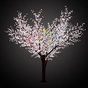 """531-215 Светодиодное дерево """"Сакура"""", высота 3,6м, диаметр кроны 3,0м, белые светодиоды, IP 64, понижающий трансформатор в комплекте, NEON-NIGHT"""