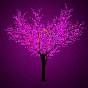 """531-216 Светодиодное дерево """"Сакура"""", высота 3,6м, диаметр кроны 3,0м, фиолетовые светодиоды, IP 64, понижающий трансформатор в комплекте, NEON-NIGHT"""