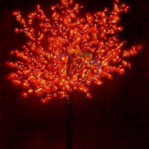 """531-232 Светодиодное дерево """"Сакура"""", высота 3, 6м, диаметр кроны3, 0м, красные светодиоды, IP 54, понижающий трансформатор в комплекте"""