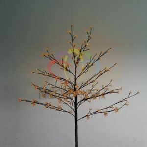 """531-247 Дерево комнатное """"Сакура"""", коричневый цвет ствола и веток, высота 1. 2 метра, 80 светодиодов теплого белого цвета, трансформатор IP44"""