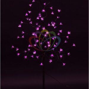 """531-248 Дерево комнатное """"Сакура"""", коричневый цвет ствола и веток, высота 1. 2 метра, 80 светодиодов розового цвета, трансформатор IP44"""