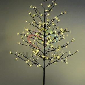 """531-261 Дерево комнатное """"Сакура"""", коричневый цвет ствола и веток, высота 1. 5 метра, 120 светодиодов желтого цвета, трансформатор IP44"""