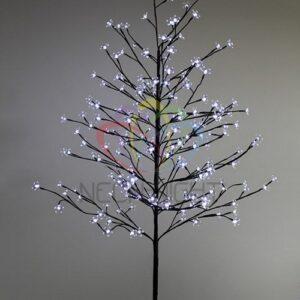 """531-265 Дерево комнатное """"Сакура"""", коричневый цвет ствола и веток, высота 1. 5 метра, 120 светодиодов белого цвета, трансформатор IP44"""