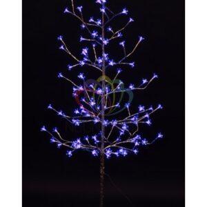"""531-273 Дерево комнатное """"Сакура"""", ствол и ветки фольга, высота 1. 5 метра, 120 светодиодов синего цвета, трансформатор IP44"""