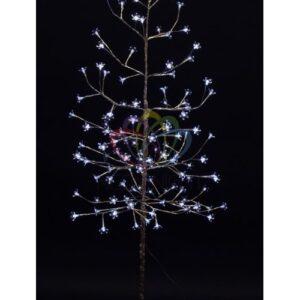 """531-275 Дерево комнатное """"Сакура"""", ствол и ветки фольга, высота 1. 5 метра, 120 светодиодов белого цвета, трансформатор IP44"""